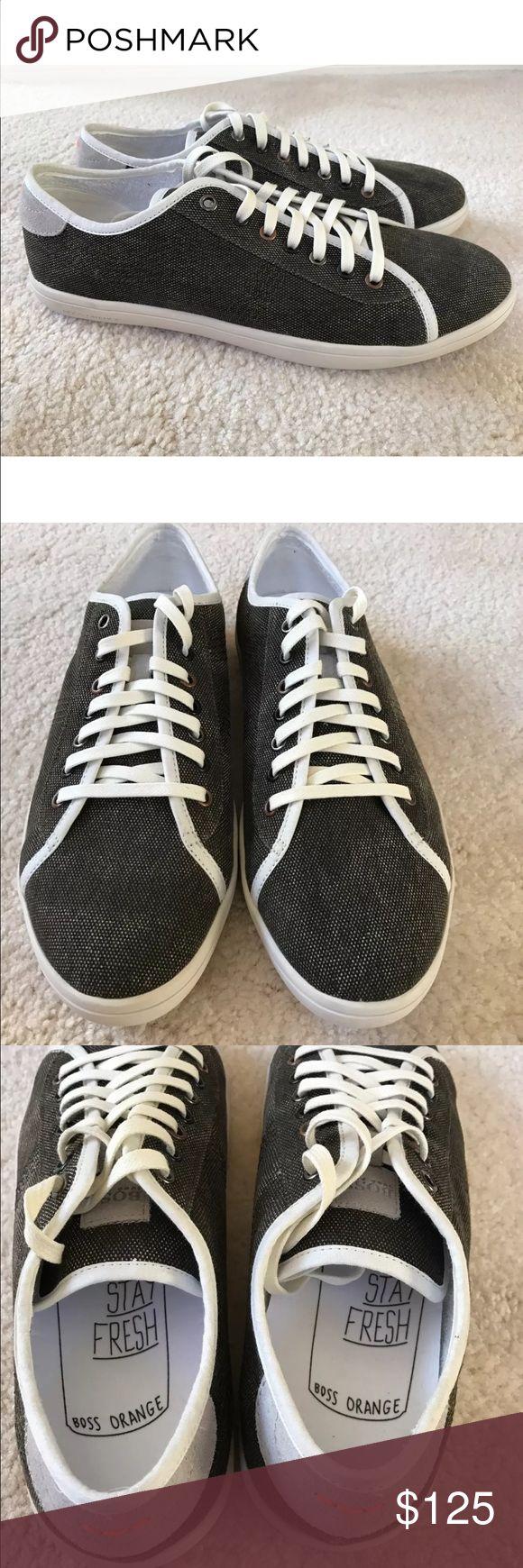 Hugo Boss Orange Men's Sneakers Dark Green Size 10 Hugo Boss Men's sneakers  Color: Dark green  Style: Soundex   100% authentic. New in original Hugo boss shoe box   Retail price at $175.00 SIZE: 10 US Hugo Boss Shoes Sneakers