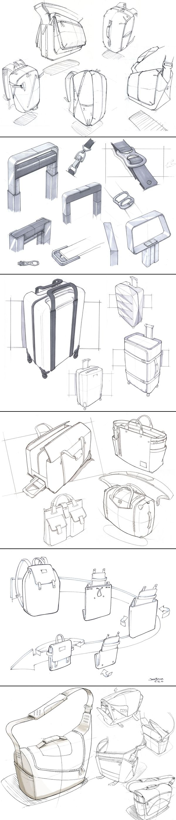 Some assorted hand sketches. Josh Buller - created via http://pinthemall.net #id #product #sketch