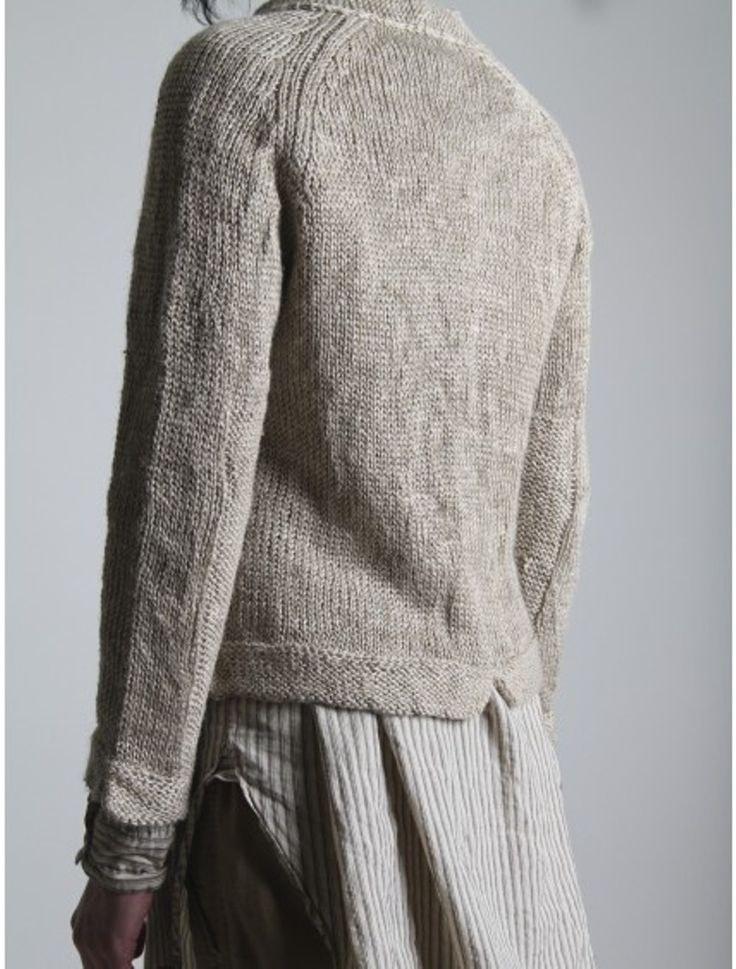 .a grey wool sweater similar to mine, and railroad blue pinstripes :D