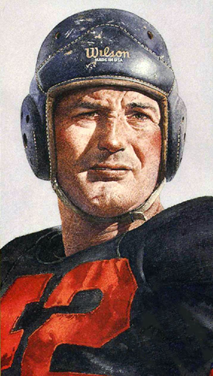 Sid Luckman, Chicago Bears by Merv Corning.