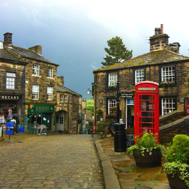 Haworth in West Yorkshire. An enchanting place with a very steep hill. home of the Bronte sisters
