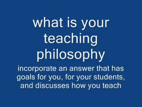 ANSWERS INTERVIEW QUESTIONS AND TEACHING