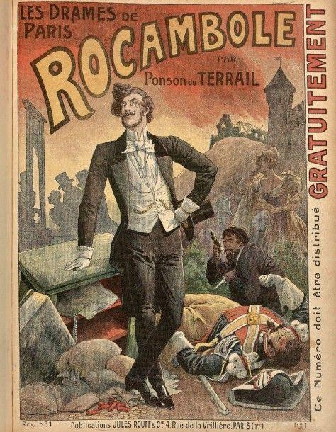 PONSON DU TERRAIL (Pierre) Les Drames de Paris. Rocambole. Paris, Jules Rouff & Cie, s.d. [vers 1880]. 2 volumes grand in-4, demi-chagrin marron, dos orné (Reliure de l'époque). RARE COLLECTION COMPLÈTE… - Kalck et associés - 07/03/2016