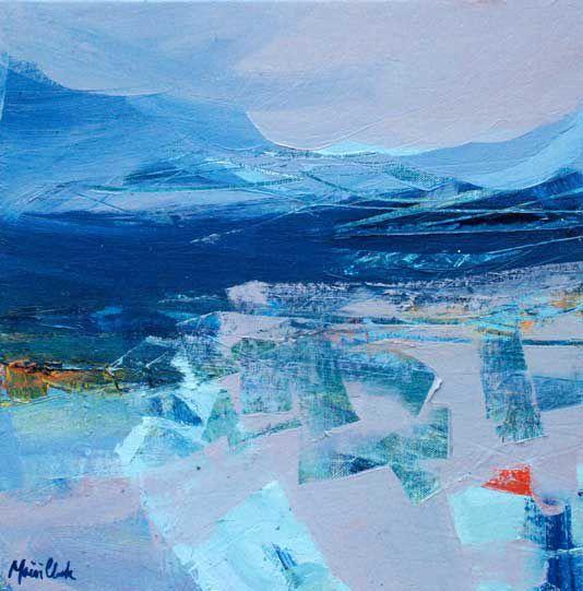 'West Highland Drama II' by Mairi Clark Oil on panel: 40 x 40 cm Signed