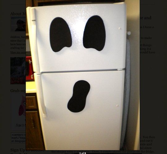 look a ghost refrigerator for halloween