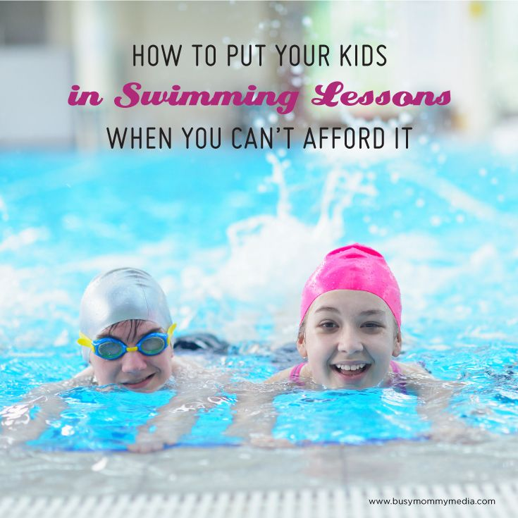 How to Put your Kids in Swimming Lessons when you Can't Afford Them - Tips for getting free or reduced cost swimming lessons for kids   water safety