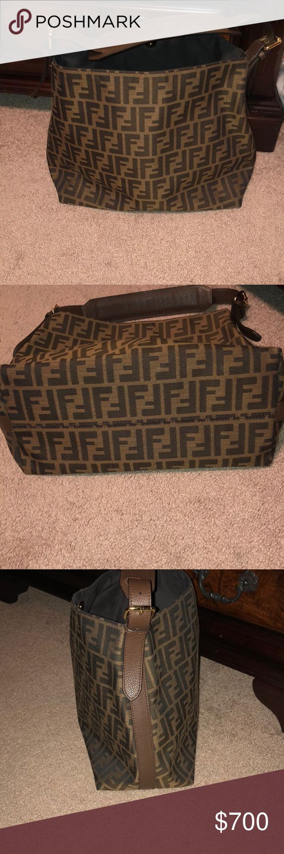 Fendi hobo handbag Pre owned, in excellent condition, used very few times, bought at the Houston Neiman Marcus in December of 2016 Fendi Bags Hobos