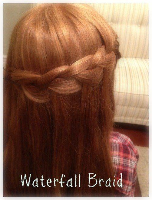 How to Make a Waterfall Braid {hair tutorial}