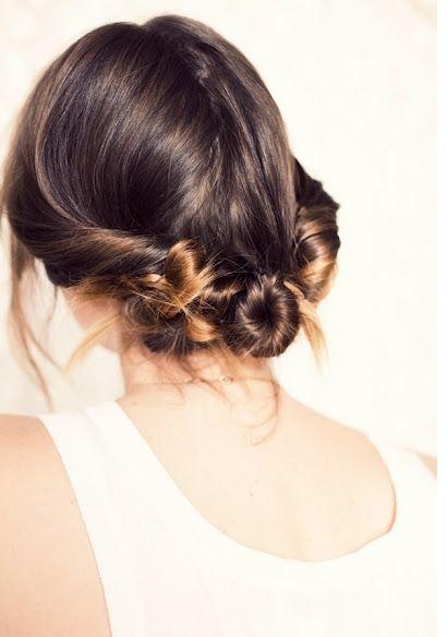 Three twisted buns tutorial: Three Twists, Hair Tutorials, Buns Hairstyles, Makeup, Beautiful, Twists Buns, Hair Style, Updo, Hair Buns
