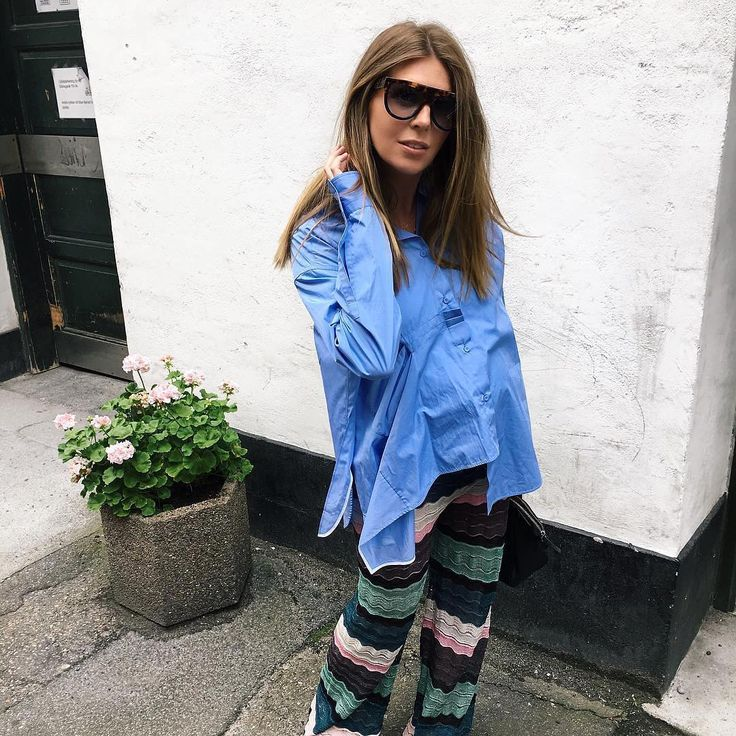 The coolest way to mix our knit #mmissoni trousers by #CathrineMarie ⚡️⚡️⚡️