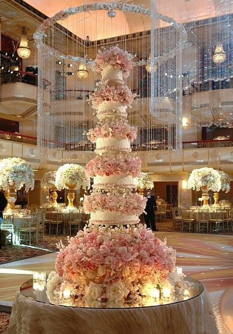 Amara Gift Lists | 5 Tier Wedding Cake | Pink Floral Cake | Wedding Inspiration | Cake Ideas