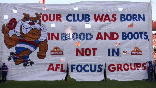 The Bulldogs 2016 preliminary final banner.
