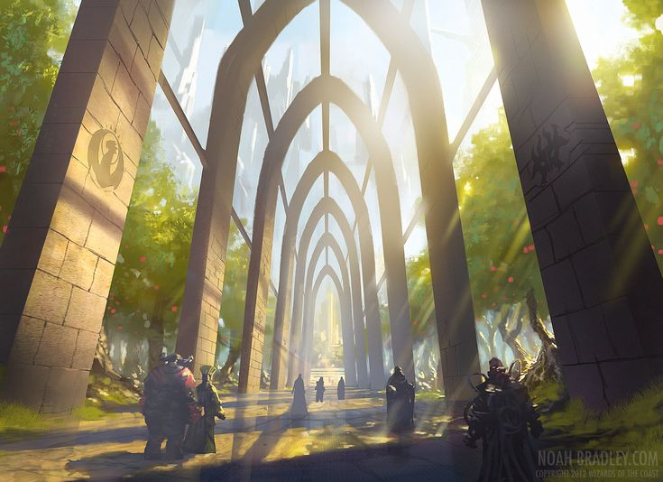 Would love to be able to walk through this art! by Noah Bradley Absolutely brilliant!
