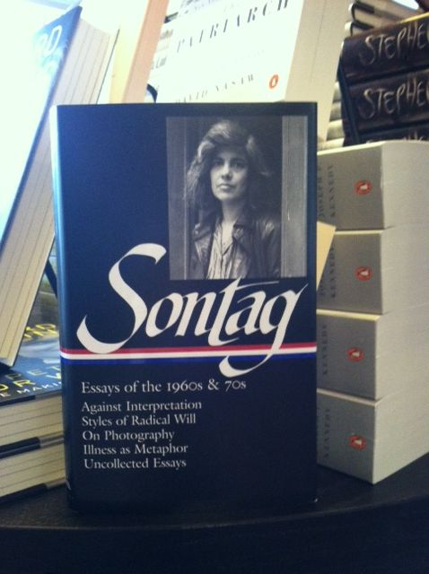susan sontag essay against interpretation To susan sontag's against interpretation of formal analysis applied simultaneously to genre and author is walter benjamin's essay, 'the story teller.