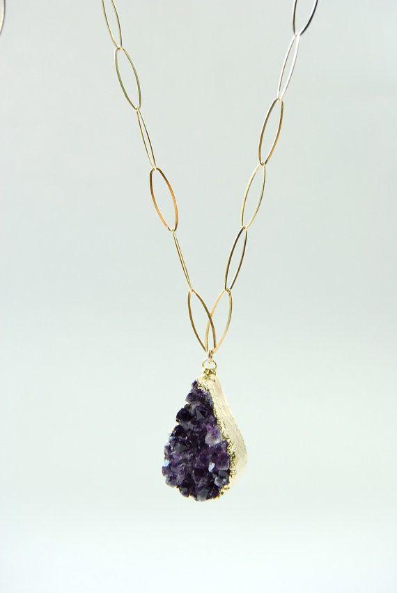 Hoku'alohi necklace gold edged raw by kealohajewelry on Etsy