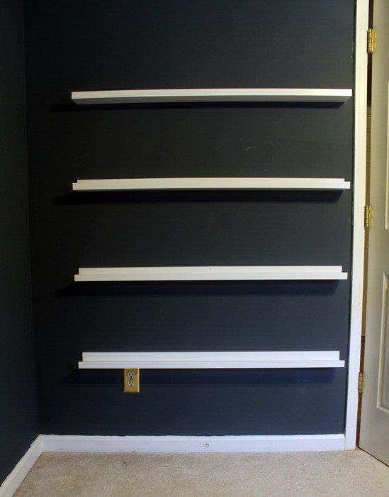 A husband and wife buy picture ledges from IKEA—look what they do in their son's bedroom!