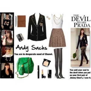Inspired by Andy Sachs (Anne Hathaway) from The Devil Wears Prada