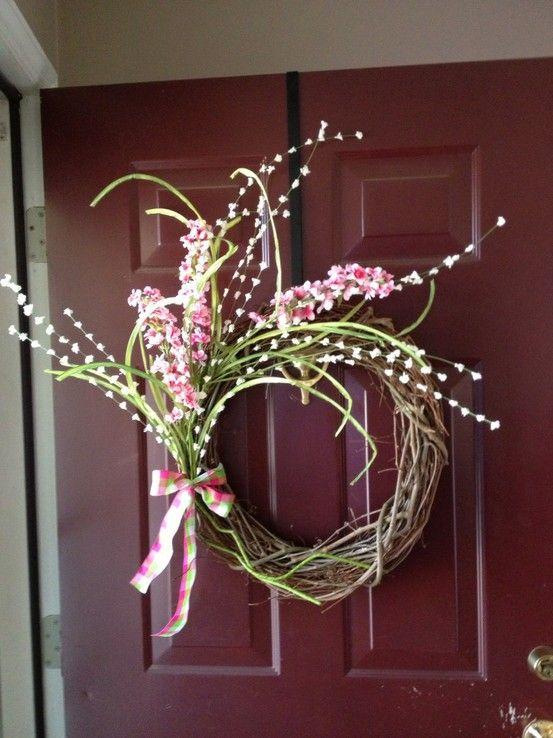 New Spring wreath for front door