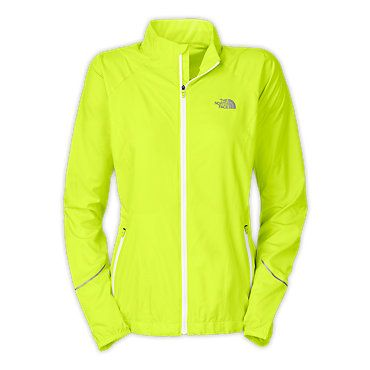 Neon Green North Face Windbreaker $100
