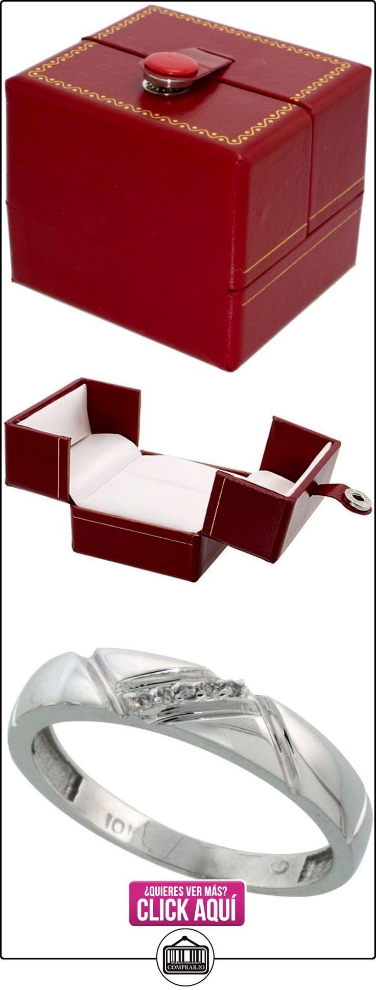 Revoni - Juego de alianzas de oro blanco  ✿ Joyas para hombres especiales - lujo ✿ ▬► Ver oferta: http://comprar.io/goto/B005M3G388