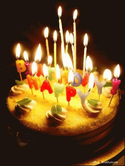 happy birthday gifs   Happy Birthday! -- Animated Cake