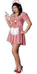 Candy Striper Nurse  Costume – Plus Size – Dress Size 16-20 $27.43 #halloween #costume  	This sexy nurse costume includes a candy striper dress with attached apron & headpiece. Our adult Candy Striper Nurse comes in sizes Plus Size, X-Small,  Small, Medium. Nurse accessories and cute nurse costume shoes are available separately.