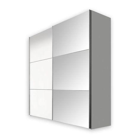 Schwebetürenschrank BIANCO - weiß - 200 cm breit
