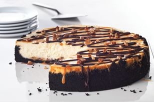 Ultimate Turtle Cheesecake recipe 24 OREO Cookies, finely crushed (about 2 cups)