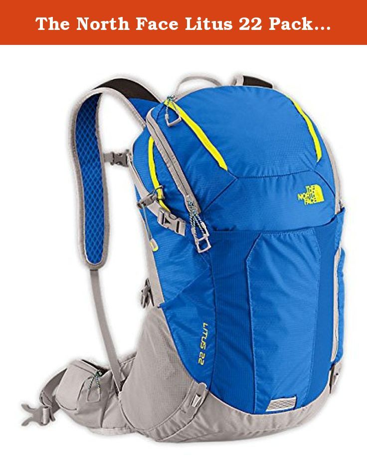 The North Face Litus 22 Pack Nautical Blue / Energy Yellow L/XL. Features of The North Face Litus 22 Pack Trampoline-style suspended-mesh back panel with contoured atilon sheet for extra breathability Deep-zipper access to the main body Vented-foam package External face pocket Internal security pocket Two tool keepers Hipbelt pockets Webbing lash points Hydration sleeve Overstuff pocket Specifications of The North Face Litus 22 Pack Volume: 1343 cubic inches / 22 liter Shell A: 100D nylon...
