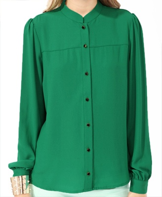 Stand Up Collar Button Up | FOREVER21 - 2017306028Buttons Up, Collars Buttons