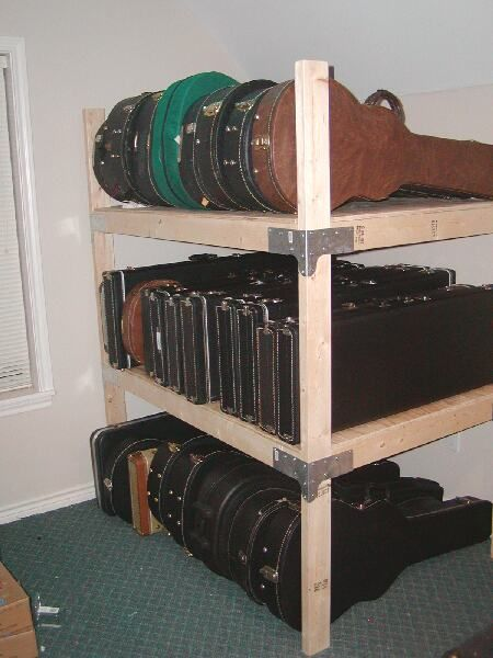 17 best ideas about guitar storage on pinterest guitar for Homemade rack case