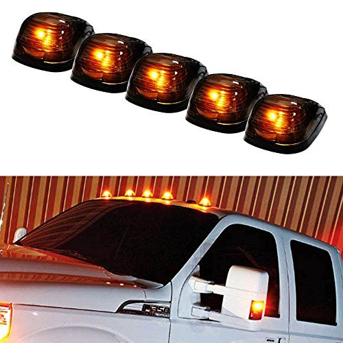 iJDMTOY® 5pcs Black Smoked Cab Roof Top Marker Running Lamps w/ 5-SMD-5050 Amber LED Lights For Truck 4x4 SUV iJDMTOY http://www.amazon.com/dp/B00LWKOC1U/ref=cm_sw_r_pi_dp_X18wwb1765DKA