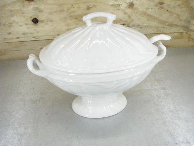 WM Adams & Sons Real Ironstone China Bowl & Ladel - shopgoodwill.com