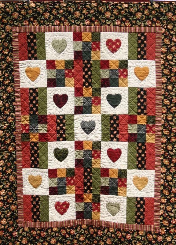Flannel Heart Quilt