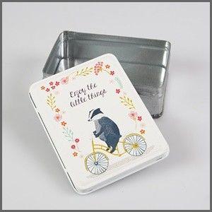 Lief tinnen skunk doosje enjoy the little things little box