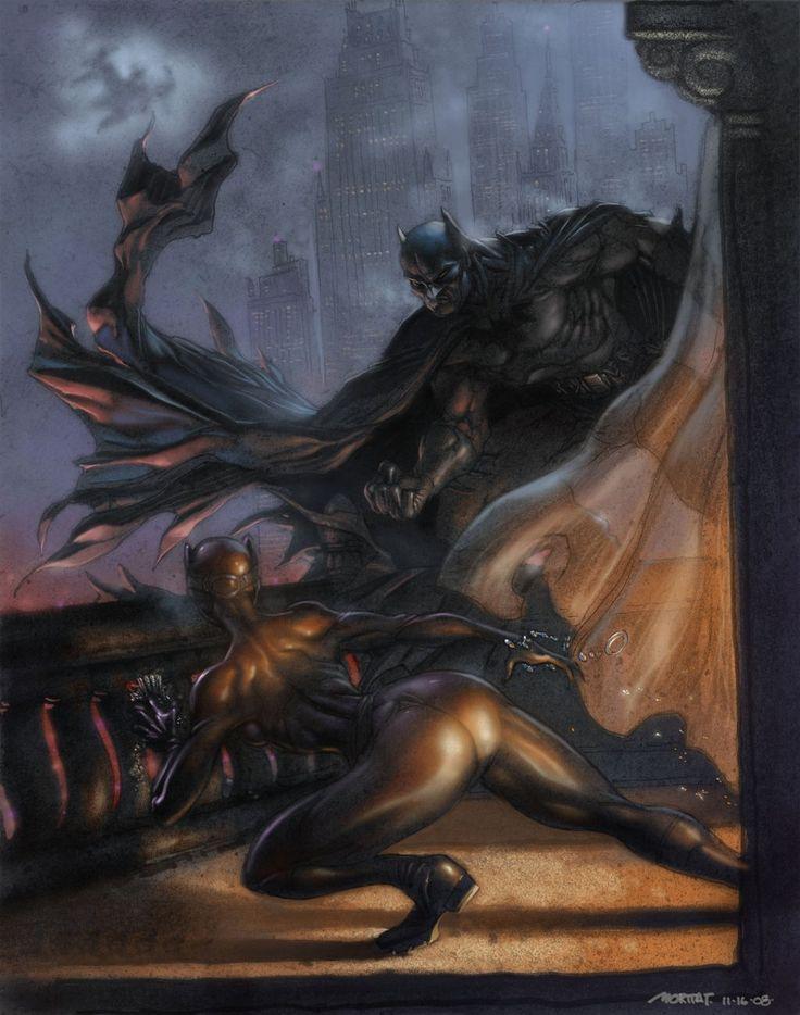 batman vs catwoman by moritat.deviantart.com on @deviantART