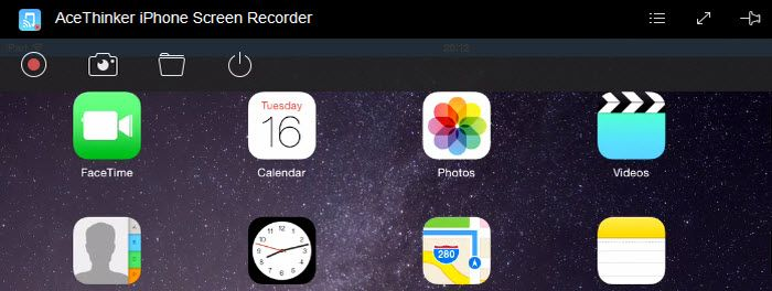 Acethinker iPhone Screen Recorder lets you record your iPhone screen without jailbreak