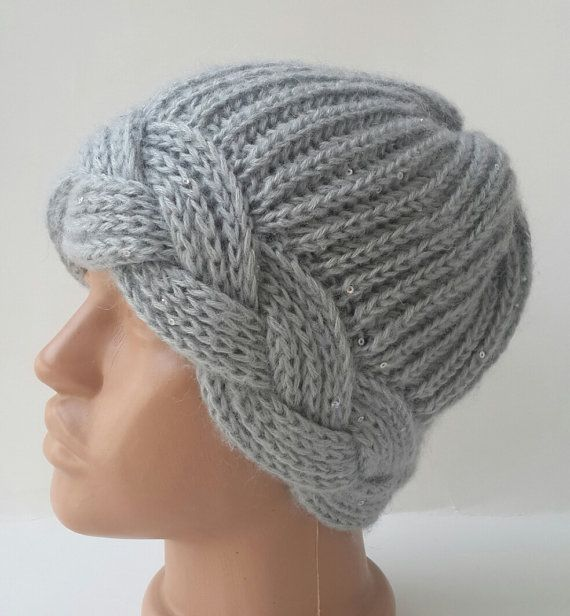 BeretKnitting beretHandmade hatsWomen by KnittingAndYarns on Etsy