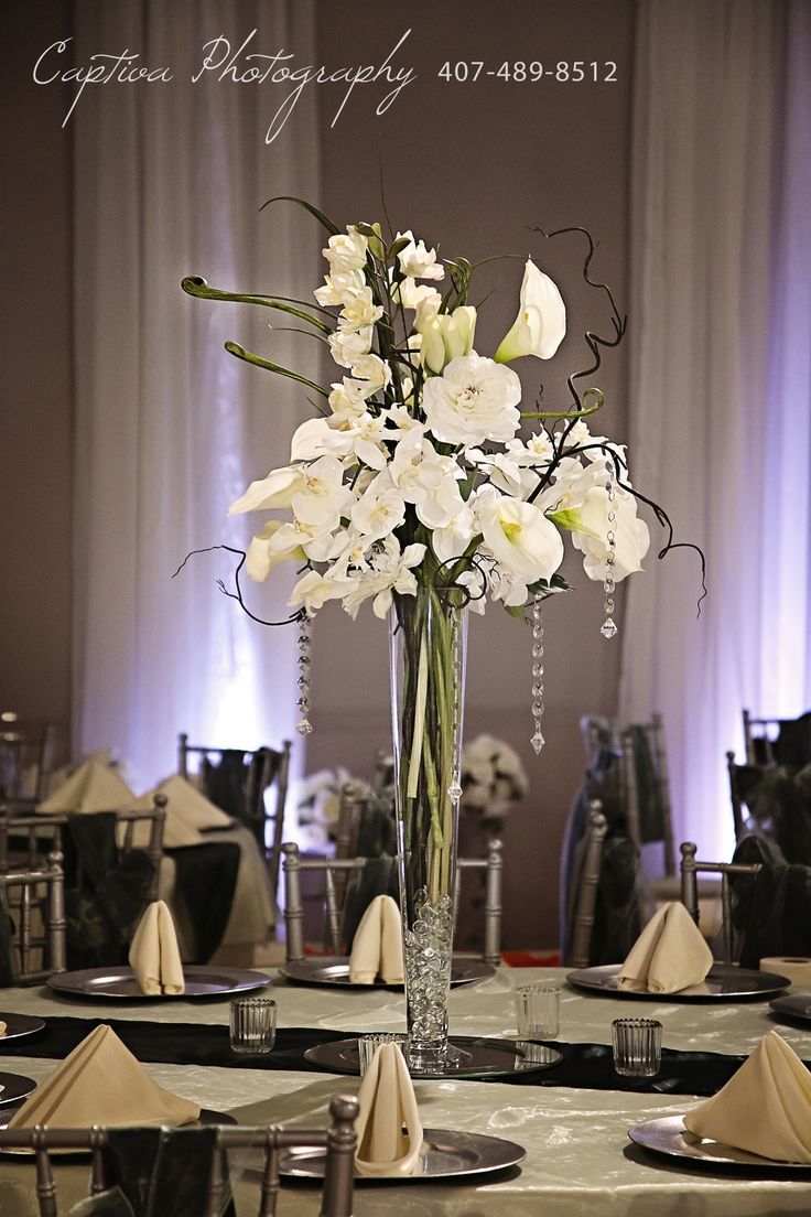 56 best event decor design by the crystal ballroom images on floral arrangements are simple and elegant photo credit captiva photography wedding centerpiece junglespirit Images