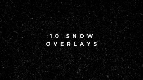 Snow Overlay Motion Graphics Pack in 2019 | Video Creation