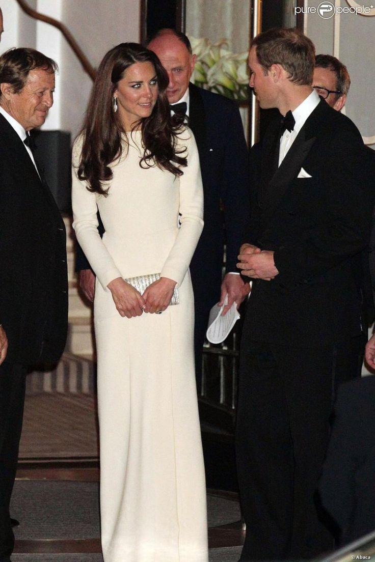 Le prince William et sa femme Catherine prenaient part le 8 mai 2012 au Claridge