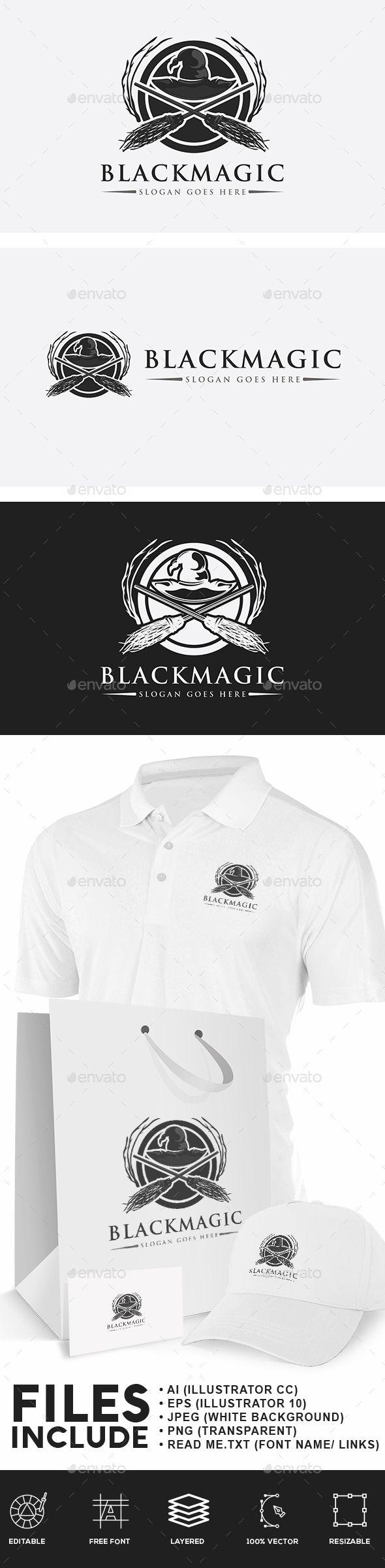 Black Magic Witches Logo Black Magic Identity Design Logo Logo Design Template
