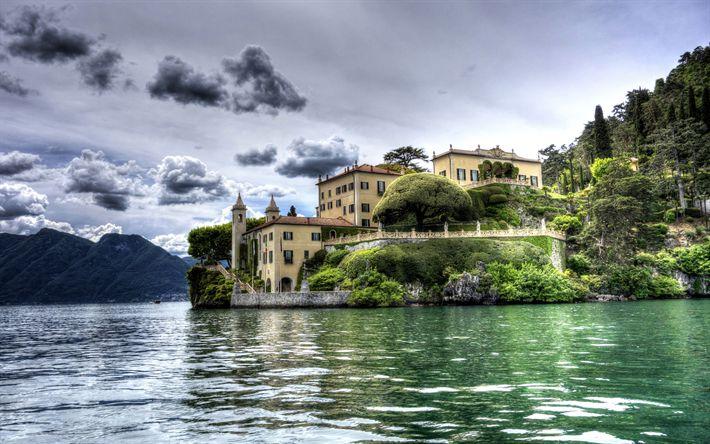 Download wallpapers Villa Balbianello, 4k, HDR, Lake Como, Lenno, Italy, Europe