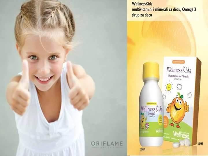wellness dodaci za decu u vidu sirupa i tableta