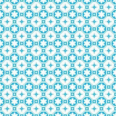 De bekende vinylvloer, nu in wit met blauw/turquoise. Perfect voor de kinderkamer, gang of badkamer! Price € 21,95