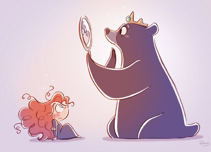 Chibis Merida and Mum Bear from Pixar's Brave by *princekido [David Gilson] on deviantART