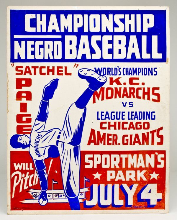 negro league baseball | 333: Original Negro League Baseball Poster : Lot 333