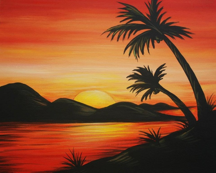Easy scenery paintings nature images for Basic portrait painting