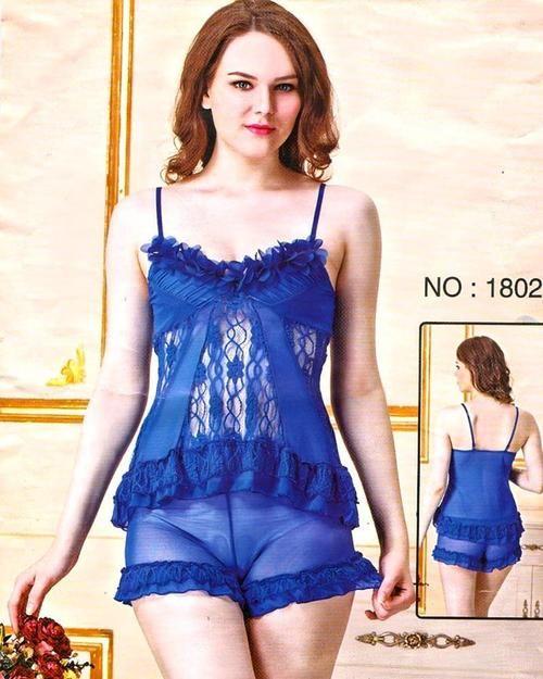 2d32f6e284 Bridal Sexy Transparent Short Nighty - 1802