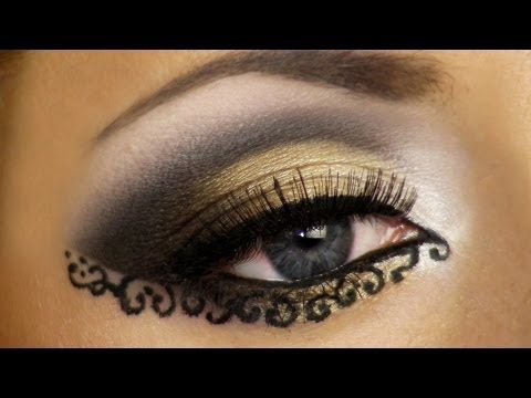 Lace Makeup Look Tutorial (Arabic makeup) / Арабский макияж - YouTube